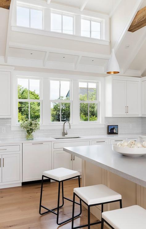 Kitchen Peninsula With Glass Door Beverage Fridge