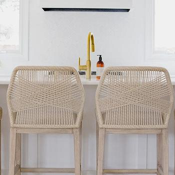 Fabulous Beige Rope Counter Stools Design Ideas Pabps2019 Chair Design Images Pabps2019Com