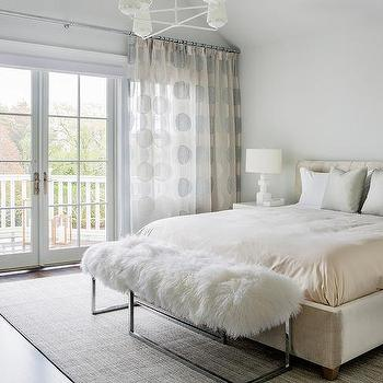 Cream And Gray Bedroom With Cream Distressed French