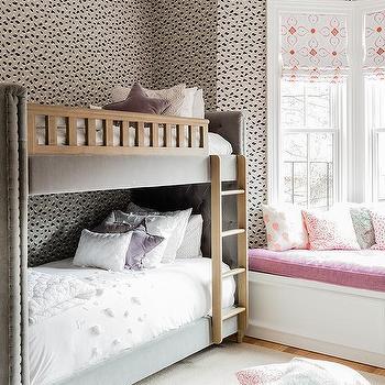 Girls Bedroom Bay Windows Design Ideas