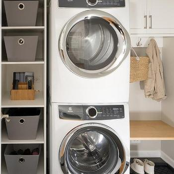 Floating Laundry Room Bench