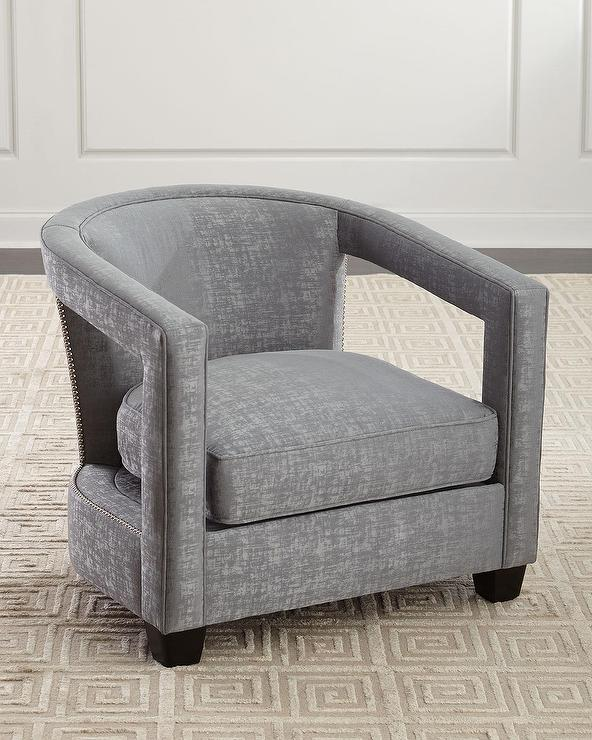 Mecox Gardens Stephanie Chair In Milly Platinum Detail