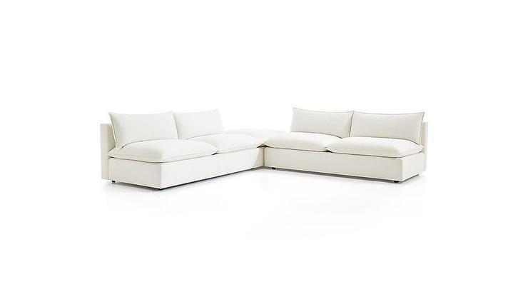 Amazing Lotus Modular Frost White 3 Piece Sectional Andrewgaddart Wooden Chair Designs For Living Room Andrewgaddartcom