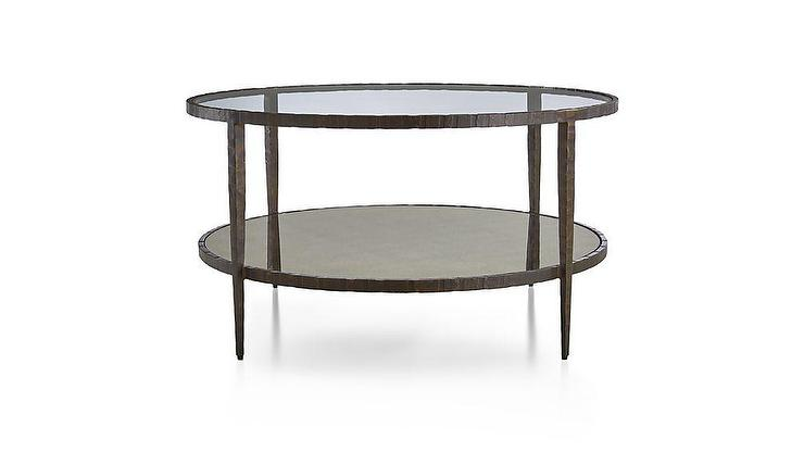 Clairemont Round Art Deco Mirrored Coffee Table