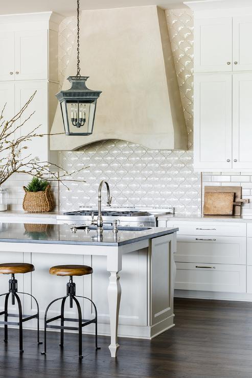 White And Beige Kitchen Design Transitional Kitchen