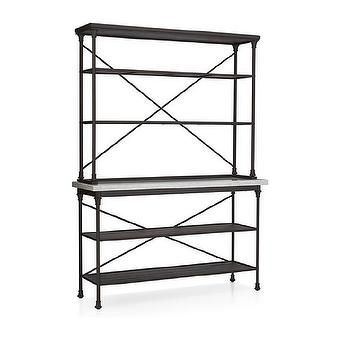 Crate and Barrel French Kitchen Bakers Rack with Hutch Look ...