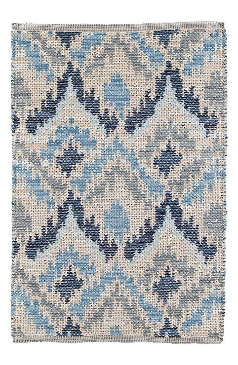 Blur Grey Yellow And Beige Ikat Rug