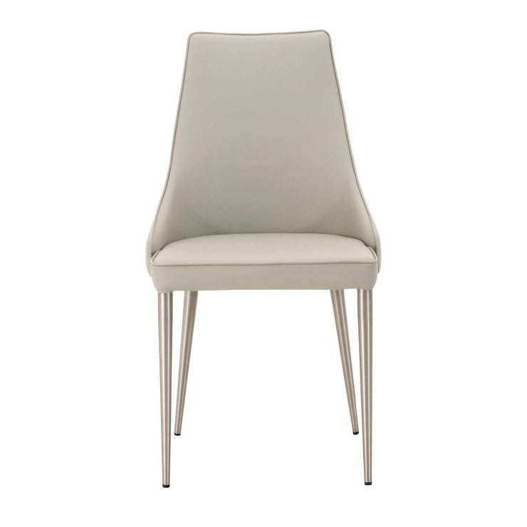 Fine Ira Light Gray Faux Leather Steel Legs Dining Chair Beatyapartments Chair Design Images Beatyapartmentscom