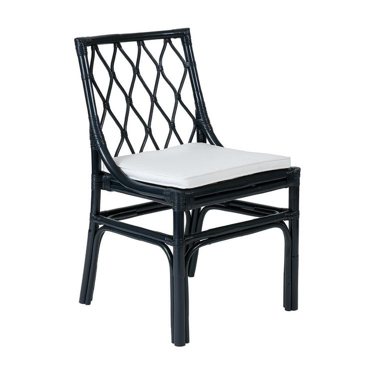 Navy Blue Parsons Chair With White Piping Products