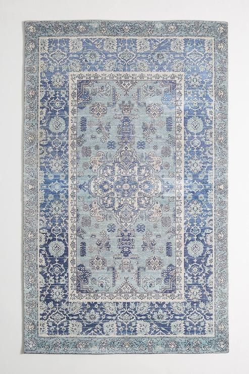 Kyra Hand Knotted Blue Traditional Rug