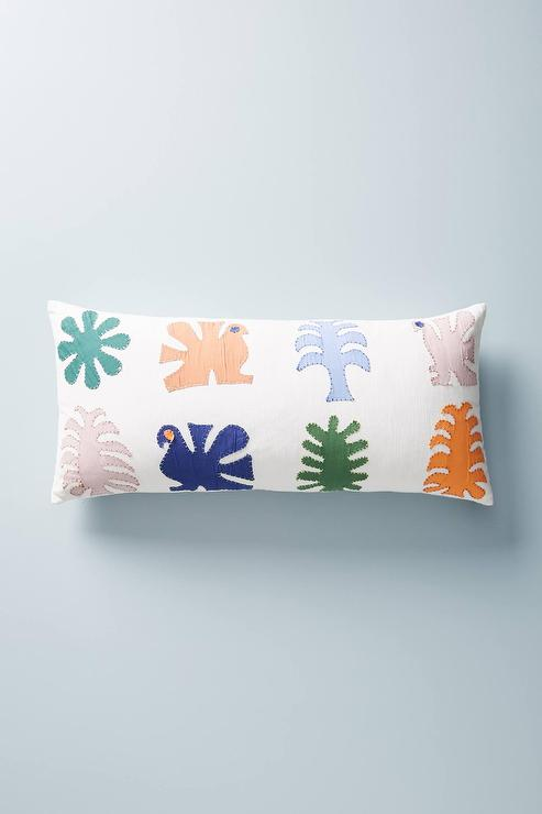 Cafe Stripe Lumbar Pillow Cover Pottery Barn