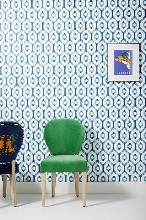 Schumacher Fez Lapis Blue Wallpaper