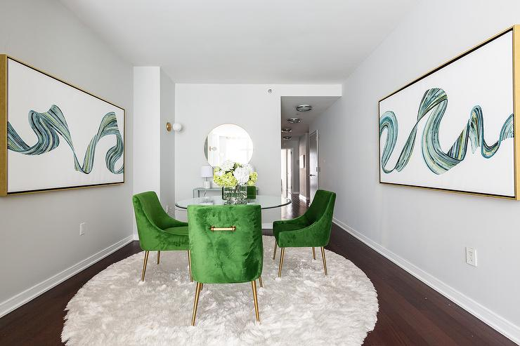 Green Round Table.Sage Green Dining Room Design Ideas