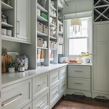 Gray Green Kitchen Cabinets Design Ideas