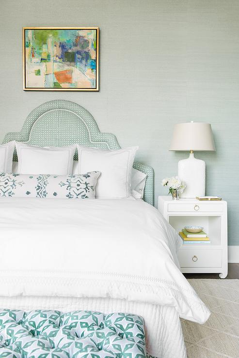 bedroom colors mint green room decor white and mint green bedroom colors boast arch headboard white lacquer nightstand with bottle lamp light gray shade mint green paint colors design ideas