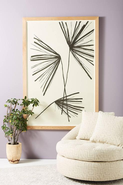 Palm Black White Wood Frame Wall Art