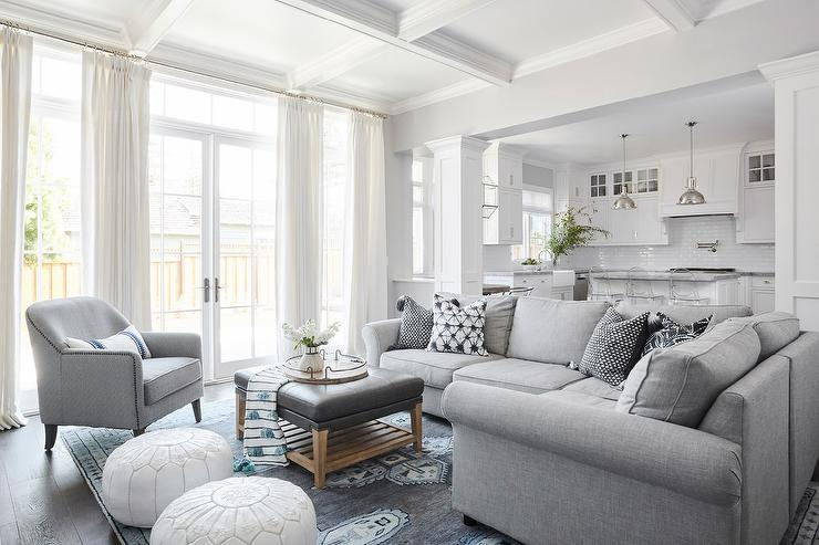 Peachy Gray Sectional With Gray And Blue Rug Transitional Uwap Interior Chair Design Uwaporg
