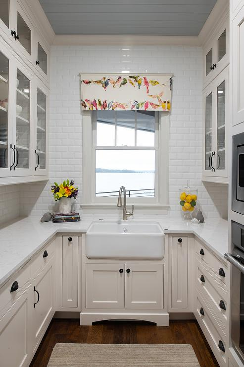 Small Shaped Kitchen Design Transitional Bathroom