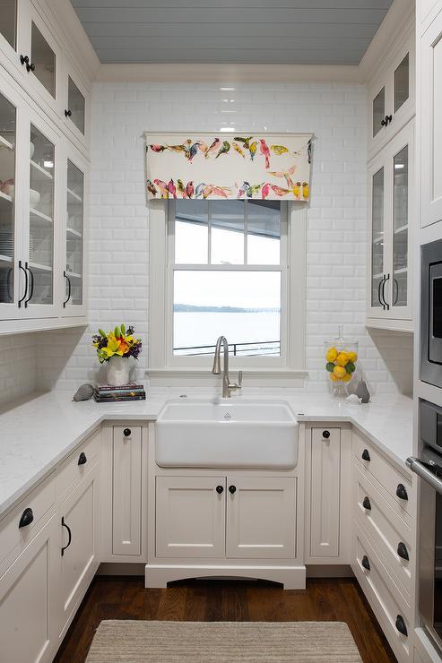 Small U Shaped Kitchen Design Transitional Bathroom