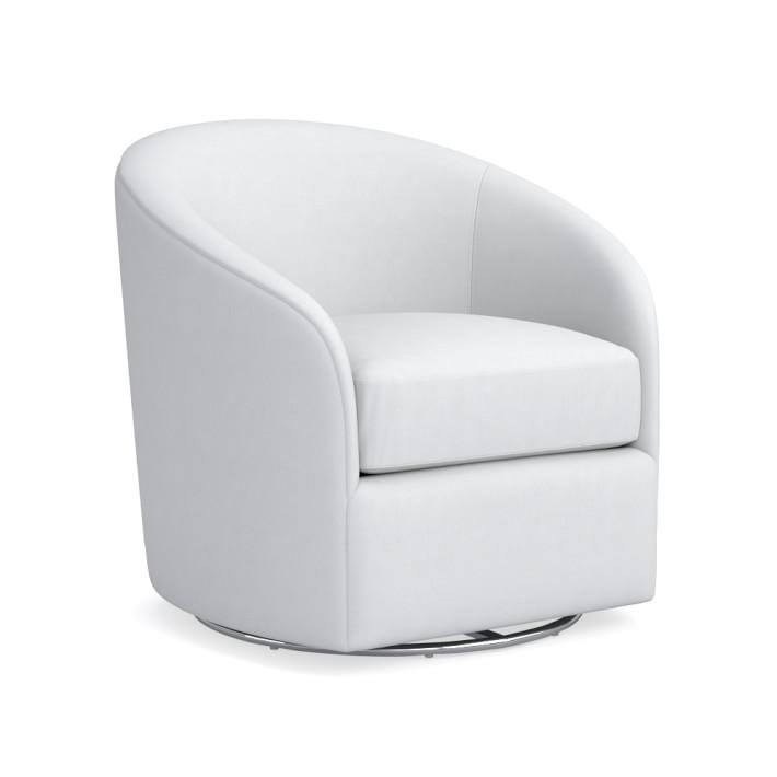 Strange Montclair Curved White Leather Swivel Chair Squirreltailoven Fun Painted Chair Ideas Images Squirreltailovenorg