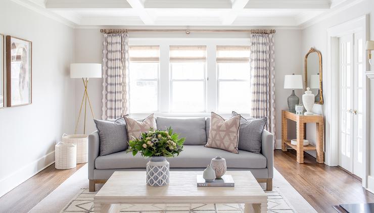 Peachy Gray Sofa With Cream Coffee Table Transitional Living Room Machost Co Dining Chair Design Ideas Machostcouk