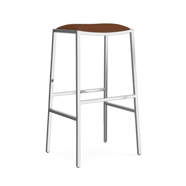 Groovy Dessau Saddle Leather Steel Backless Bar Stool Creativecarmelina Interior Chair Design Creativecarmelinacom
