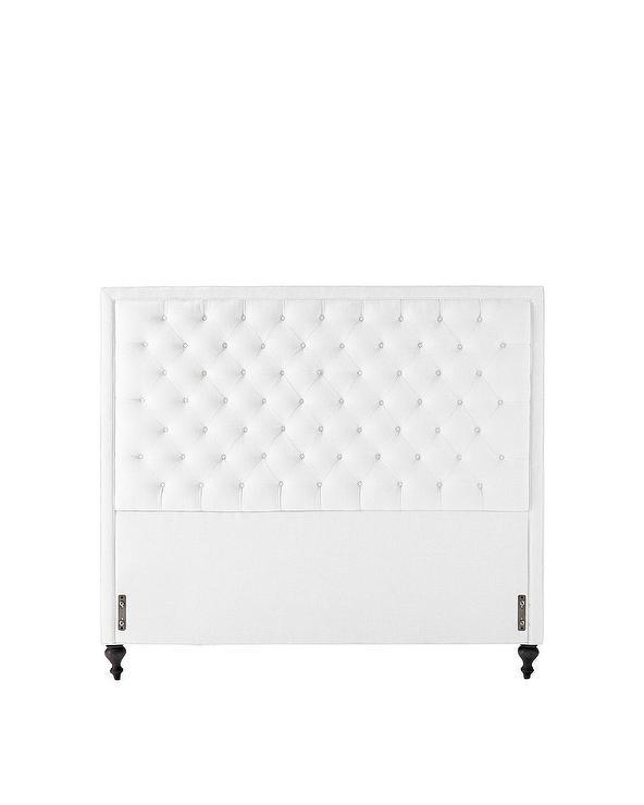Abbyson Living Royal Tufted White Linen Headboard