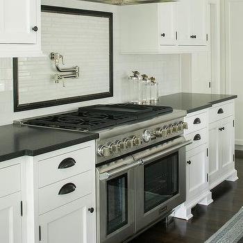 Kitchens Pencil Tile Border Design Ideas