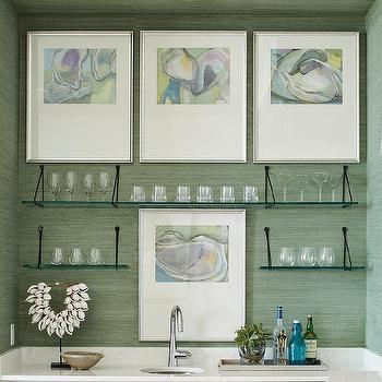 Glass Bar Shelves Design Ideas