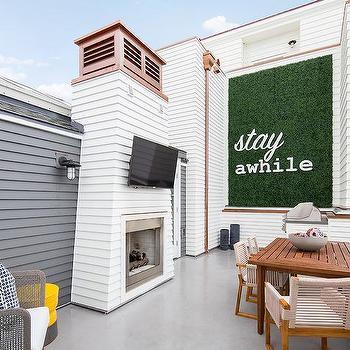 Rooftop Deck Fireplace Design Ideas