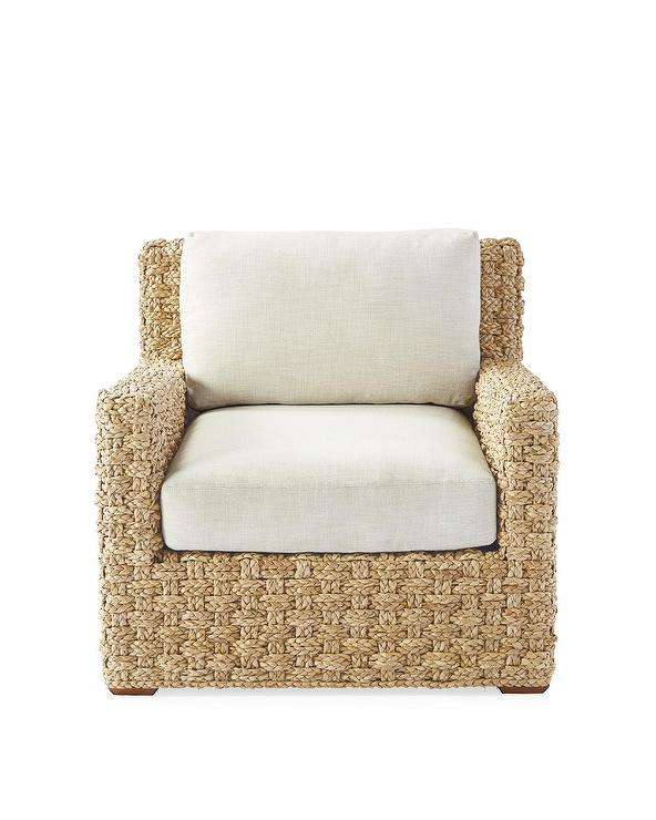 Pleasing Costa Chunky Hand Braided White Cushion Lounge Chair Alphanode Cool Chair Designs And Ideas Alphanodeonline