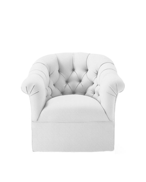 Groovy Paxton Curved White Tufted Rolled Back Swivel Chair Caraccident5 Cool Chair Designs And Ideas Caraccident5Info