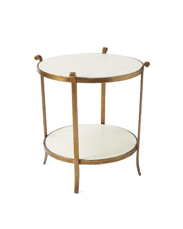 White Marble Arabesque Side Table: French Iron Side Table