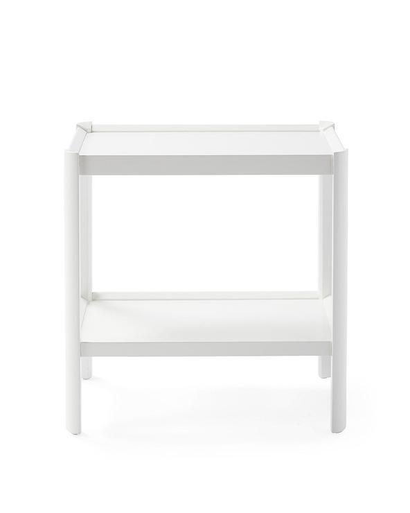 White Rectangular Bar Table