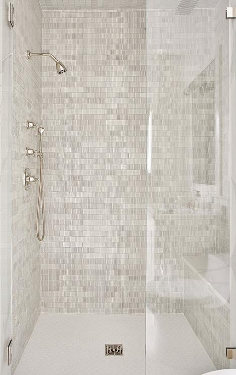 Black And White Marble Shower