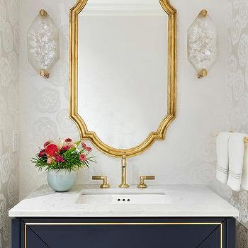 Brass Trim Bathroom Mirror Design Ideas, Brass Bathroom Mirrors
