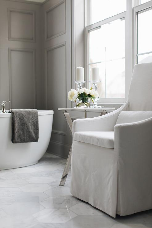 white-and-gray-master-bath-with-chair Paint Designs For Walls Bathroom on wallpaper designs for walls, library paint designs for walls, spray paint designs for walls, black and white designs for walls, tile bathroom designs for walls,