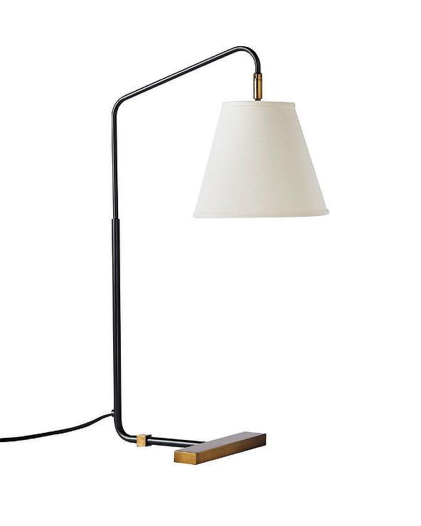 Bodhi Black Iron Ribbed Glass Task Lamp