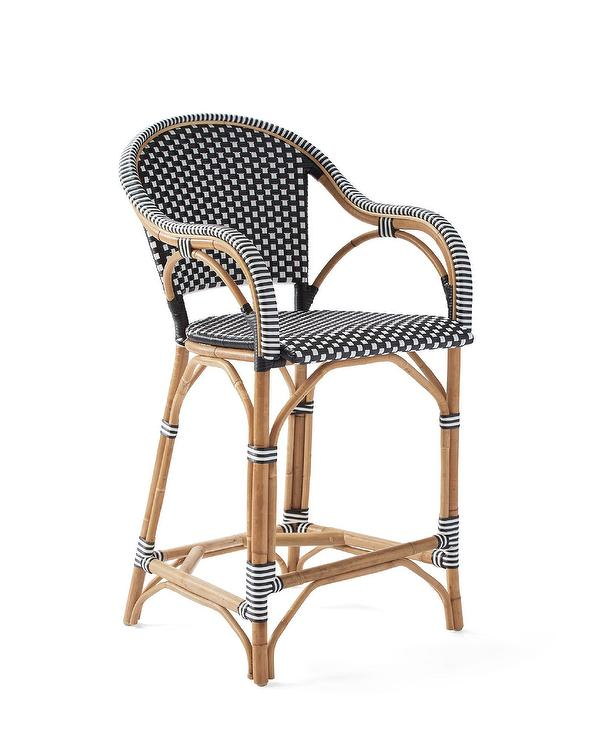 Magnificent Riviera Black White Curved Rattan Counter Stool Forskolin Free Trial Chair Design Images Forskolin Free Trialorg
