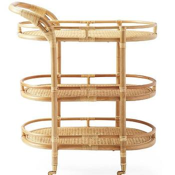 Alfresco Natural Cart In Outdoor Dining Crate And Barrel
