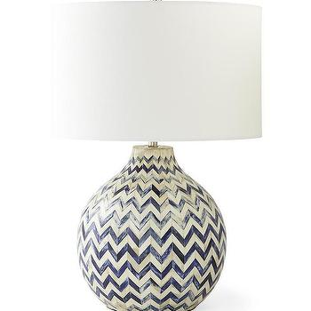 Mary Mcdonald Chevron Stripe Table Lamp Shades Of Light