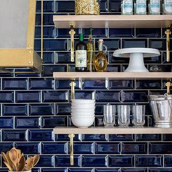 Beveled Subway Tile Backsplash Design Ideas