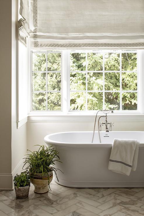 Calcutta Gold Marble Shower Transitional Bathroom