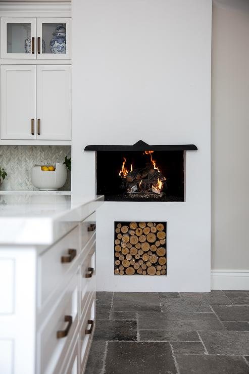decorative indoor firewood rack outdoor fireplace wood.htm kitchen fireplace with wood nook transitional kitchen  kitchen fireplace with wood nook