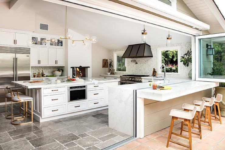 Indoor Outdoor Kitchen Design - Transitional - Kitchen