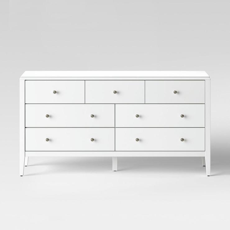 Pelham Horizontal White Wood 17 Drawer Dresser