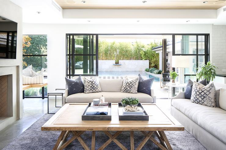 Excellent Sunpan Devons Rustic Concrete Grey And Brown Round Coffee Table Creativecarmelina Interior Chair Design Creativecarmelinacom