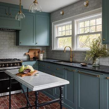 Freestanding Marble Top Kitchen Island Design Ideas