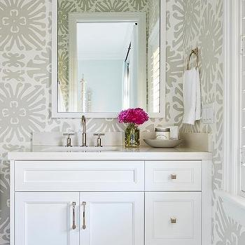 Bathrooms Quadrille Wallpaper Design Ideas