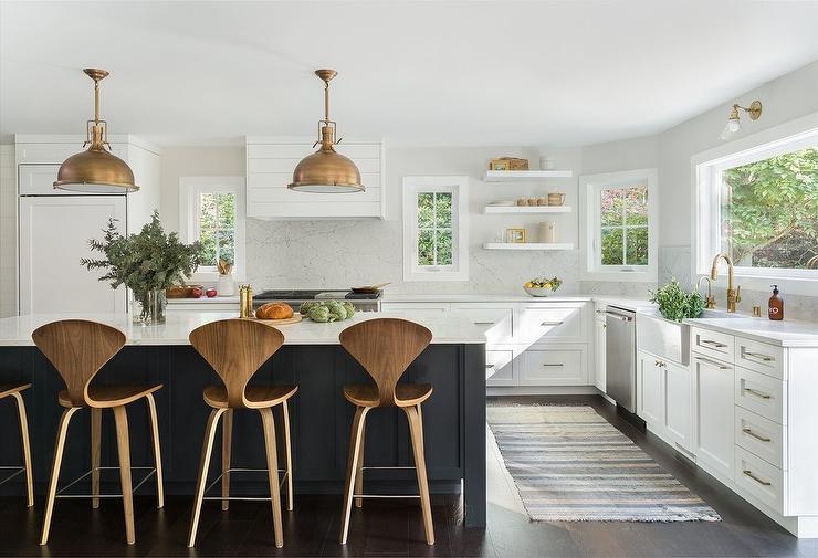 Black White Modern Farmhouse Kitchen Design Ideas